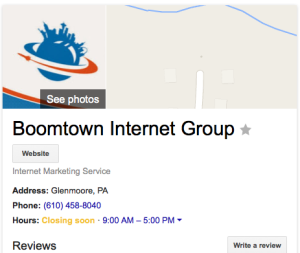 Boomtown Google My Business  Local Listing
